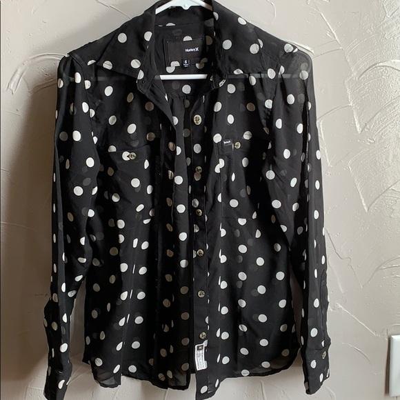 Hurley Tops - Long sleeve button down shirt